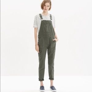 Madewell Olive Green Cargo Overalls